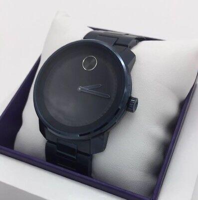 MOVADO Bold Black Museum Dial Black Stainless Men's Quartz Watch Black/Black