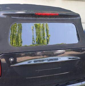 MCC Smart 450 Cabrio Scheibe Heckscheibe Verdeckscheibe Cabrioscheibe in SCHWARZ