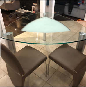 Modern Glass Dining Table Set