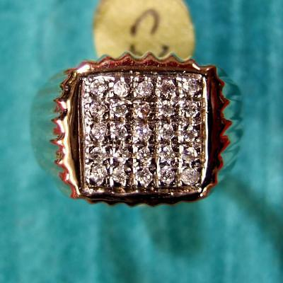 9 ct gold second hand gents CZ stone ring