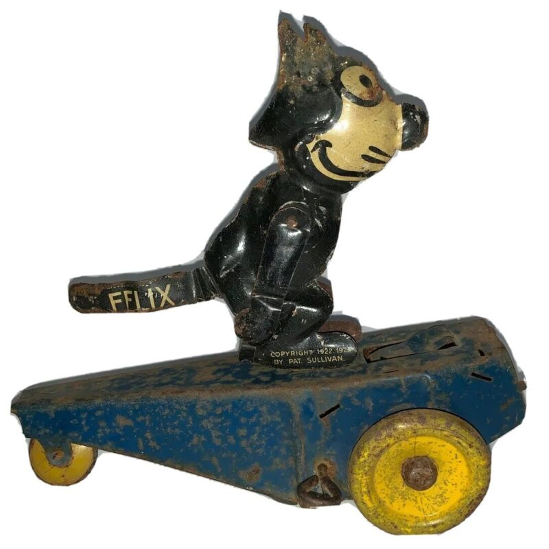 Felix The Cat Comic Strip Windup Toy,1924 By Pat Sullivan,Made In Germany,(B112)
