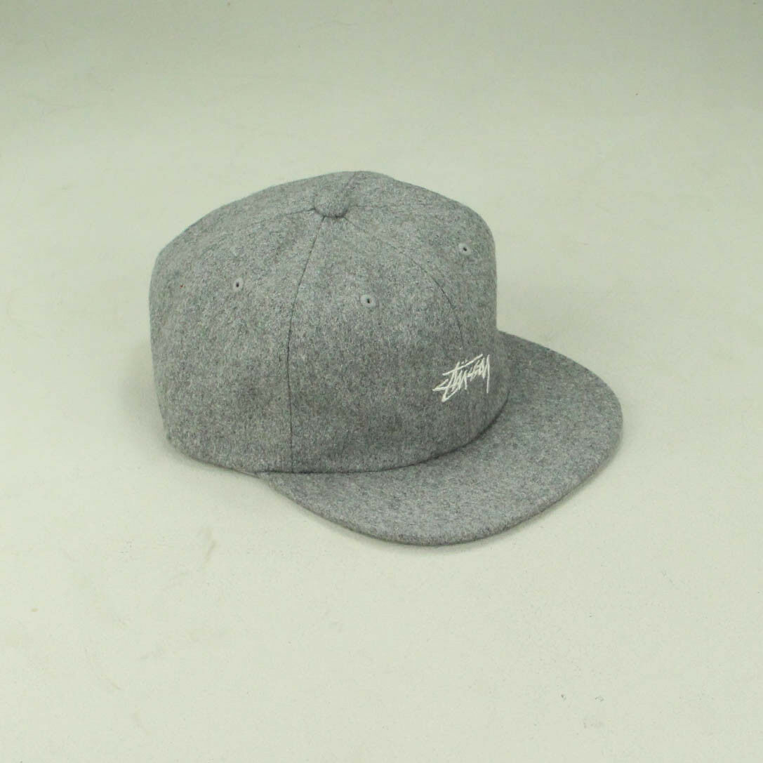 Details about Stussy Melton Wool Strapback Cap Hat Brand New In Grey 8c35159e28e