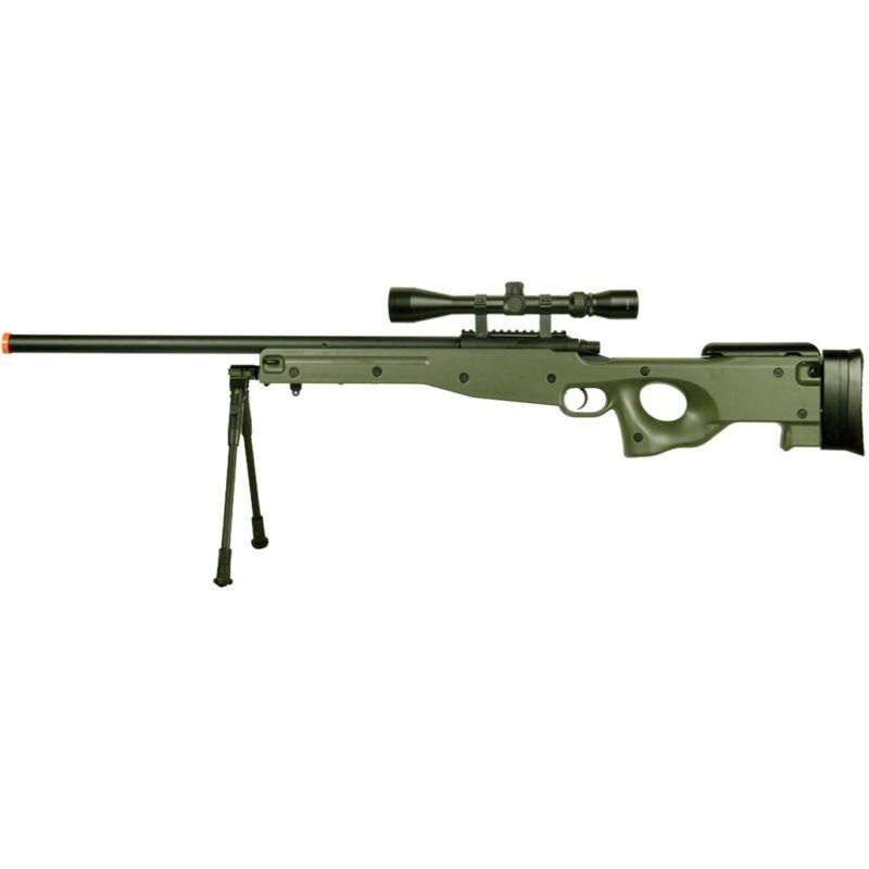 515 FPS AGM L96 AWP AWM SPRING AIRSOFT GUN SNIPER RIFLE SCOPE GREEN w/ 6mm BB