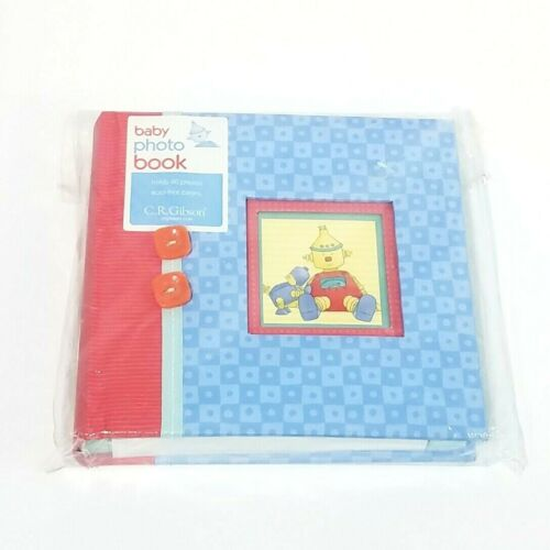 CR Gibson New Baby Photo Book Rare Cute Baby Bots Theme, Holds 60 Photos