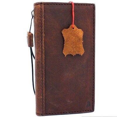Genuine Vintage Leather Case For Google Pixel 2 Book Wallet Cover Slim Holder Da