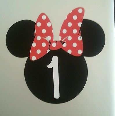 Minnie Mouse Red DIY Invitations. Set of 20. Personalized with age - Minnie Mouse Invitations Diy