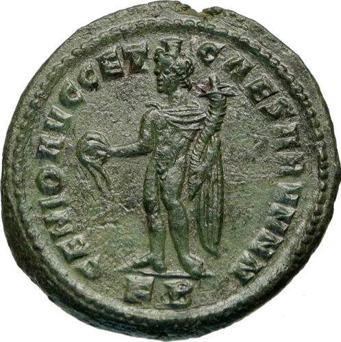 GALERIUS as Caesar Authentic Ancient 295AD Genuine Roman Coin w GENIUS i84926