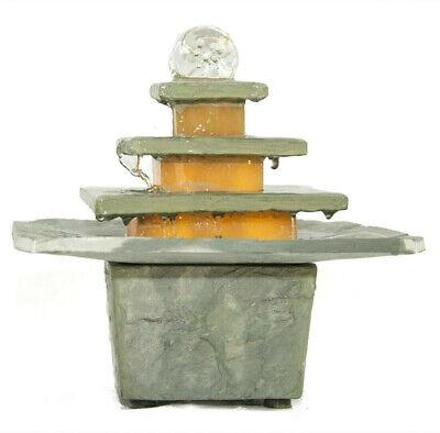 Steinbrunnen Fuente de Habitación Humidificador Aire Piedra Auténtica Pozo Bola