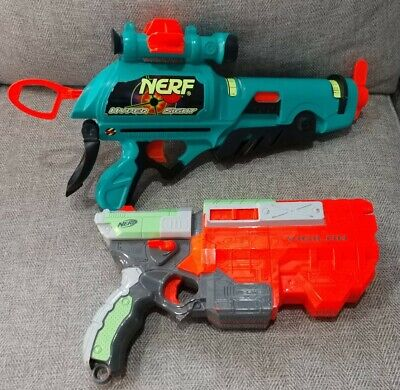 Nerf Guns Lot of (2) Vigilon Hyper Sight Large Size Work Great No Darts