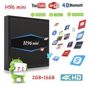 NEW! H96 MINI 2/16GB ANDROID TV BOX KODI APPS LOADED WIFI BT 4K Hallam Casey Area Preview