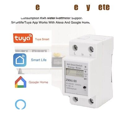 medidor de consumo electrico Wifi, Compatible Con Alexa Y Google Home