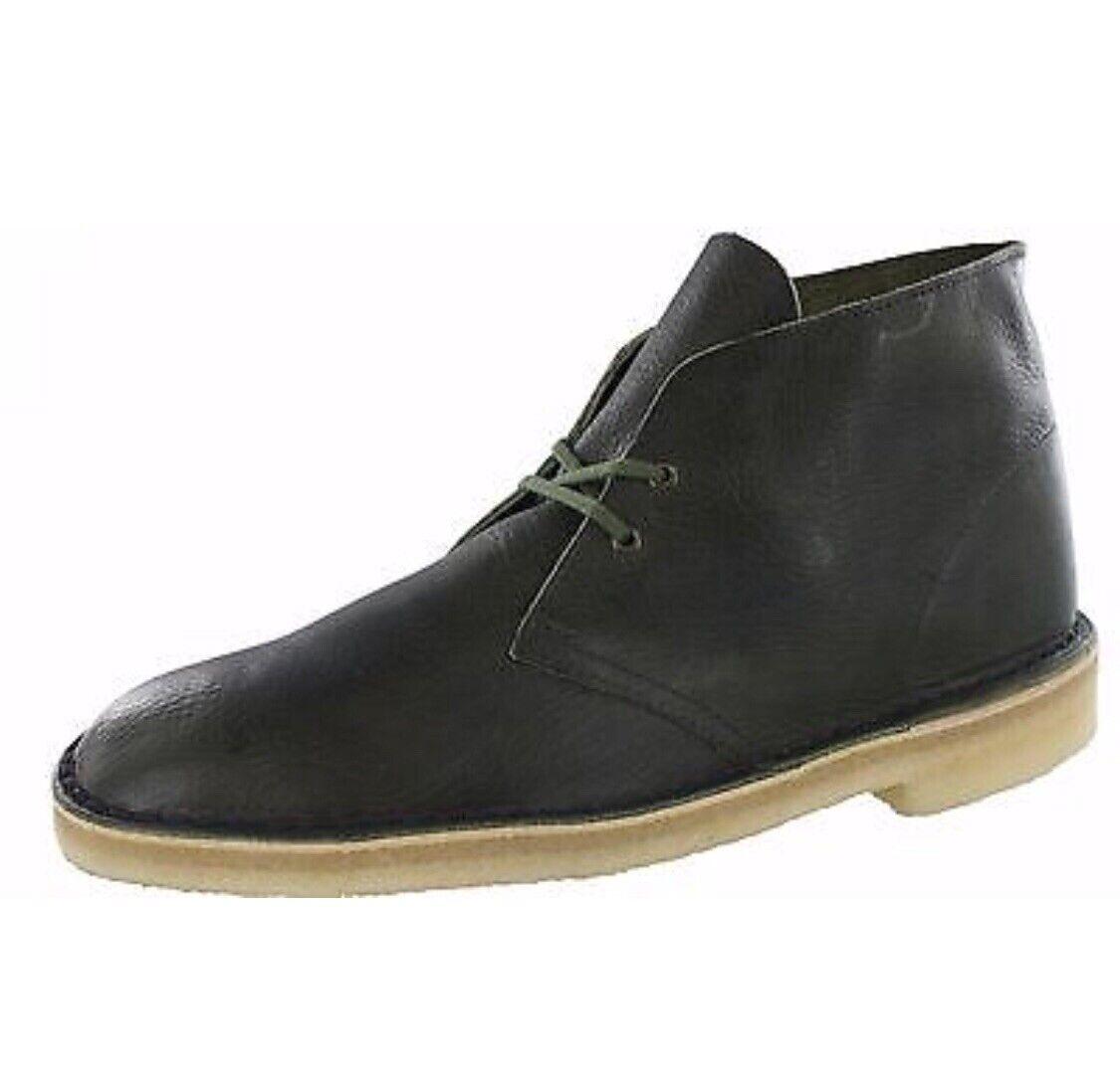 Clarks Originals Desert Boots Olive Leather. Men's Sizes. 26115534