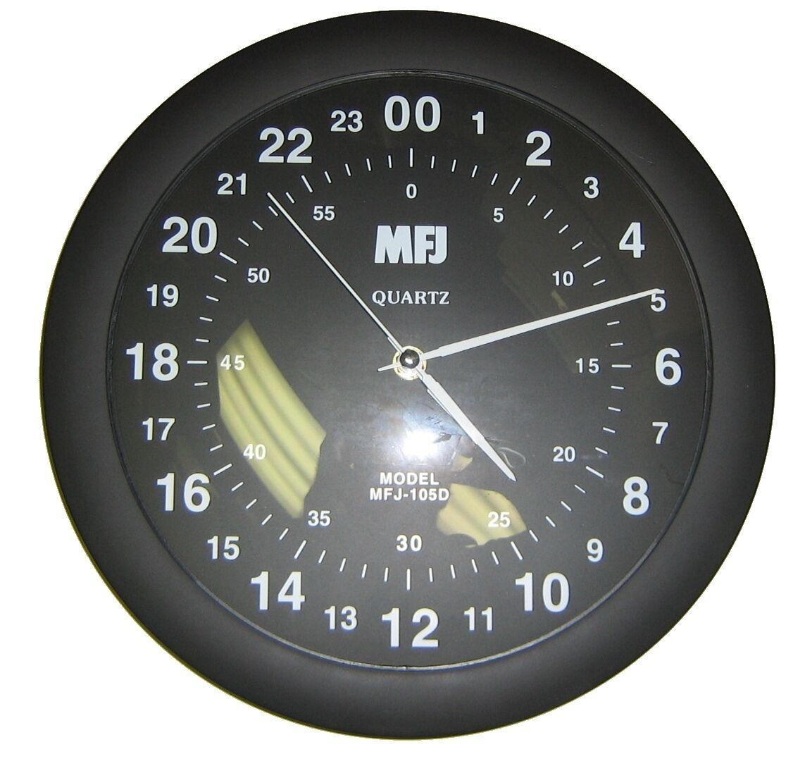 722381846f4 MFJ-105D 24-Hour Analog Quartz Wall Clock 650619018103