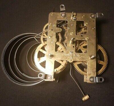 Antique WATERBURY Mantle Clock Movement Steampunk as-is parts USA Broken Spring
