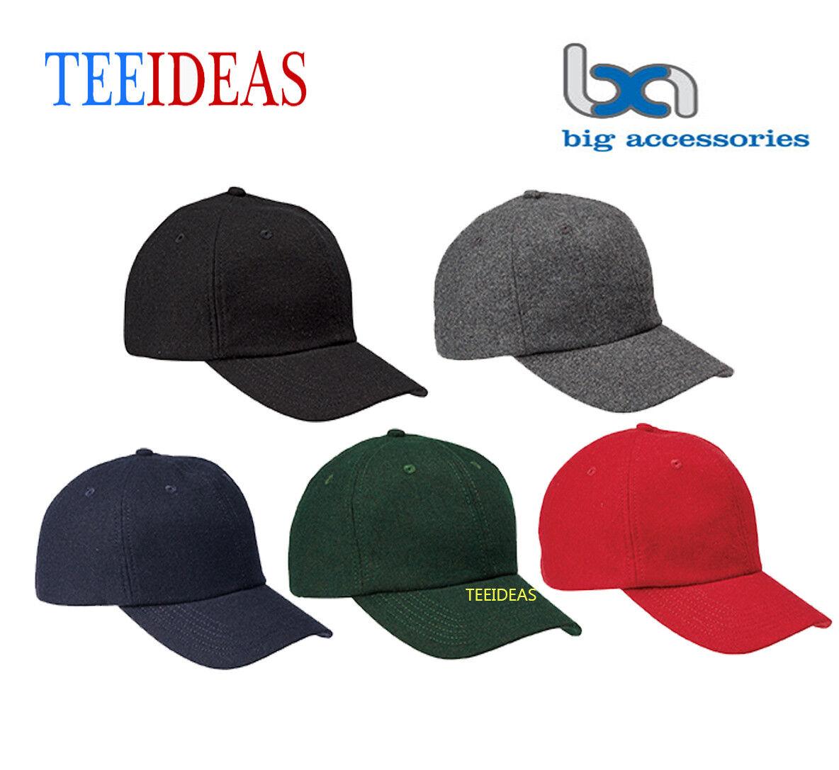 Big Accessories Wool Baseball Cap- BA528 NEW
