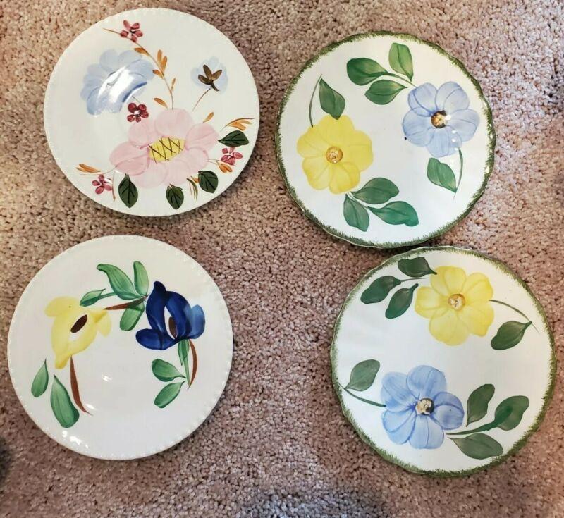 "BLUE RIDGE SOUTHERN POTTERIES Dessert Plate 6""  set of 4"