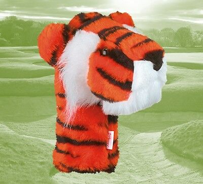Tiger Golf Club Headcover for Driver, 1 wood, Oversize Golf Headcover by Daphne Daphne Headcovers Oversize Headcovers