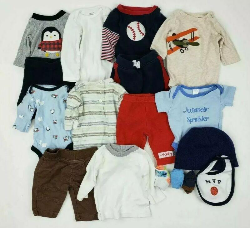 Boys Nb & 0-3 Months Clothes Carters Disney Garanimals.. Baby Lot Outfit Newborn
