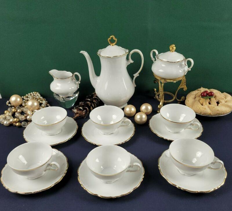 Bavaria Schirnding Qualitats Porcellan Western Germany Tea Set