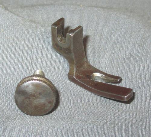 Antique Singer 27 15 Treadle Sewing Machine Straight Stitch Presser Foot + Screw
