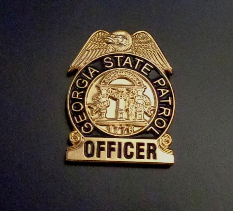 Georgia GA State Patrol Officer police Mini Badge Lapel Pin GASP