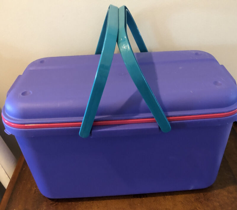 Eagle Craftstor Storage Tote Craft Organizer Purple/pink Bonus Storables Boxes