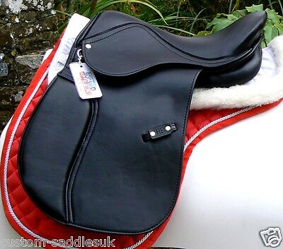 Synthetic Leather look GP saddle with D-Flex tree at a top value price- BLACK