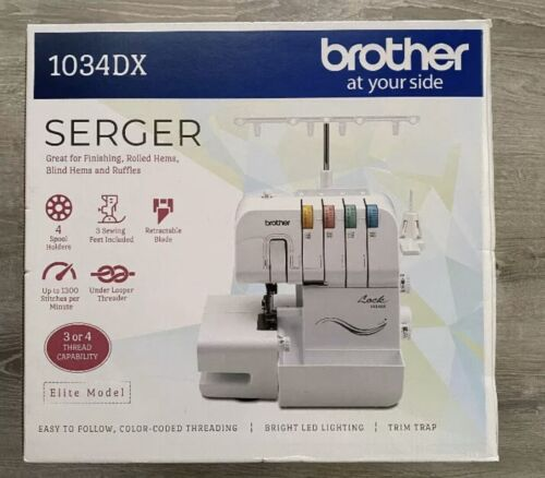 NEW Brother Serger 1034DX Sewing Machine Metal Frame 1,300 S