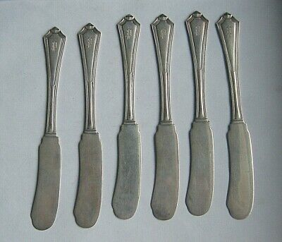 Gorham Sterling Silver  Set 6  BUTTER  KNIVES  - FGC  lion anchor
