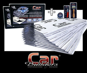 40sq/f Car sound deadener insulation - w FREE application roller and install kit