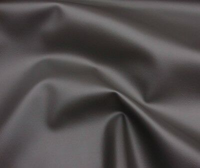 - Vinyl upholstery Faux Leather Dark Grey Contract commercial grade fabric yard