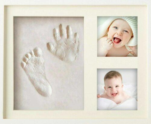 MyMiniJoy Newborn Baby Handprint and Footprint Picture Frame Kit, Keepsake Box