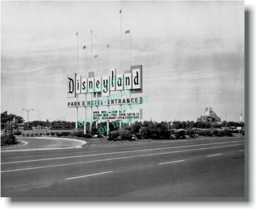 Vintage image Disneyland Old Marquee Sign NEW print 8x10 1950s Matterhorn