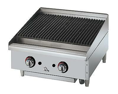Star 6024cbf Star-max Countertop 24in Lava Rock Gas Charbroiler