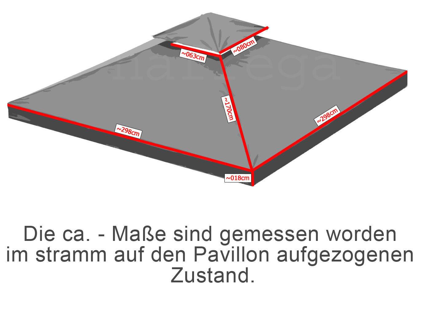 ersatzdach dach 310g wasserdicht f r pavillon m kaminabzug pavillondach chf. Black Bedroom Furniture Sets. Home Design Ideas