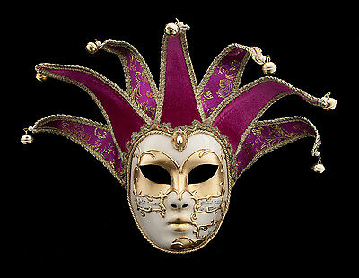 Mask from Venice Volto Jolly Pink and Golden 7 Spikes Symphony 120 VG4