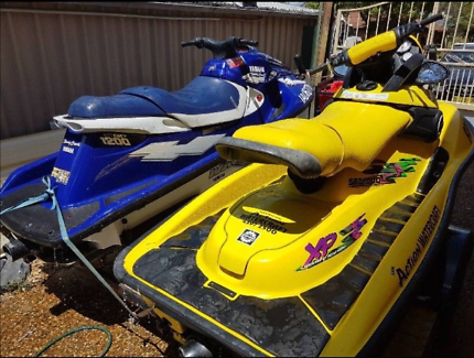2 x Jet Ski on dual ski trailer. All accessories included.