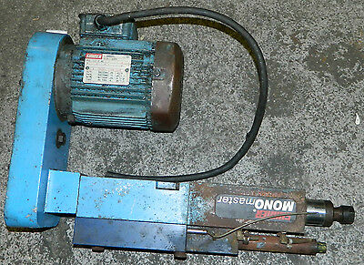 Suhner Monomaster Drilling Unit W 1 Hp Suhner Ac Drive Motor 230460 V Used