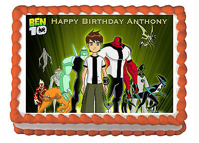 Ben 10 Boys Party Edible Cake Topper CHOOSE from 3 Images