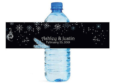 Winter Wonderland Themed Water Bottle Labels, Weddings, Birthday, Engagement](Winter Wonderland Theme)