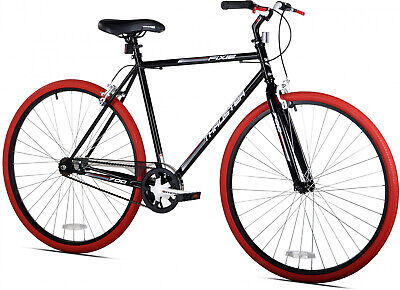 f9a8299c004 Men 700c Thruster Fixie Bike Black/Red, For Height 54 Up, One Speed