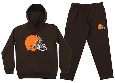 Outerstuff NFL Youth Cleveland Browns Team Fleece Hoodie and Pant Set