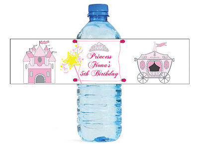 Princess Themed Water Bottle Labels Weddings Birthday Engagement Party Sweet 16 - Princess Wedding Theme