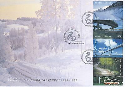 FINLAND 1999 FDC BOOKLET - BRIDGE ROAD ENGINEERING 200 YEARS- FINNISH BRIDGES