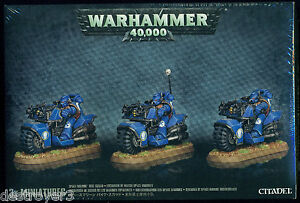 Warhammer 40K Space Marine Bike Squad New and Sealed
