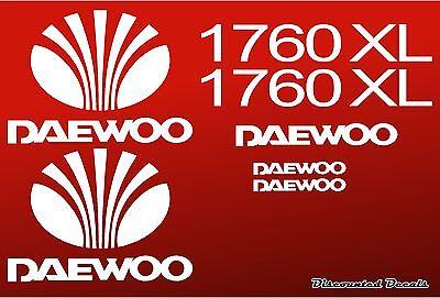 Daewoo 1760xl Skidloader Skid Steer Loader Replacment Sticker Kit Decals