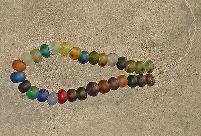 Beautiful Fair Trade Unenhanced Artisan Recycled Glass Beads 20mm Mix Set