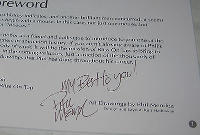 Pieces Of Meeces By Phil Mendez Sketchbook Signed Paperback 2009 Comic Book
