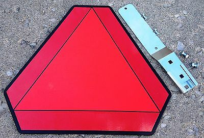Slow Moving Vehicle Plastic Sign Wbracket Kit - Golf Cartsutvatvtractors
