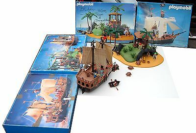 Playmobil Piraten Set Piratenschiff 3750 + Pirateninsel 3799 mit OVP